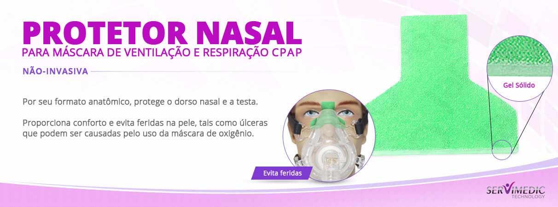 Protetor Nasal para Máscara de Ventilação e Respiração CPAP Não-invasiva-info