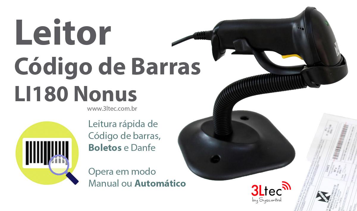 Leitor de Codigo de Barras LI180