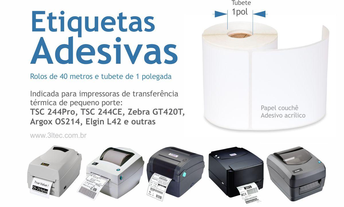 Etiquetas Adesivas para Impressora Termica