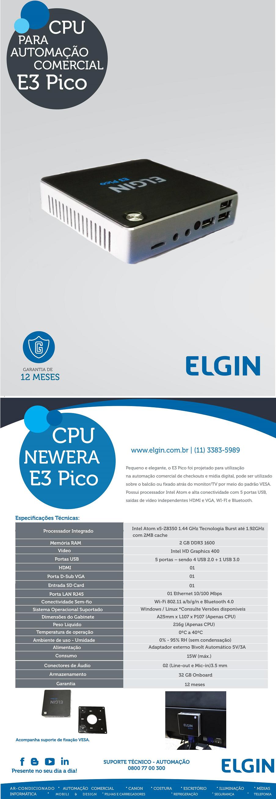 Resultado de imagem para CPU E3 PICO