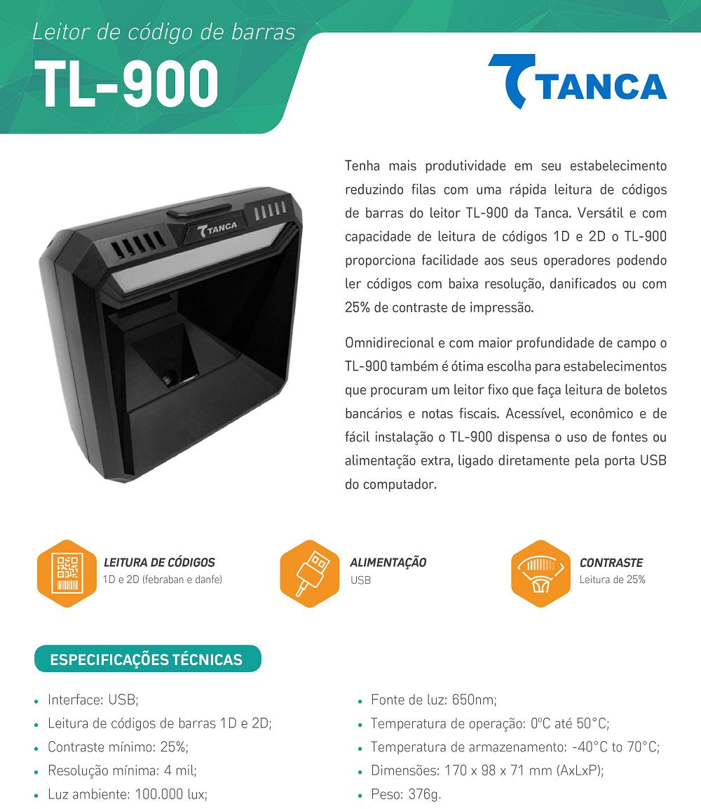 Leitor de Código de Barras Fixo TL-900 - Tanca |Haja Automação