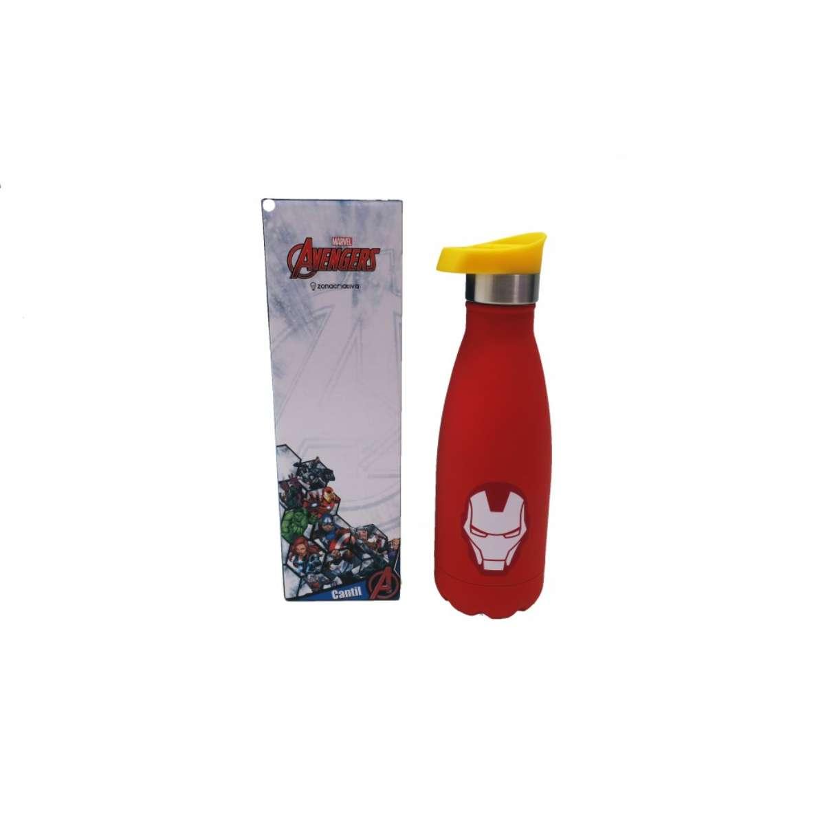Garrafa Cantil Térmica Fosca Homem de Ferro 350 ml