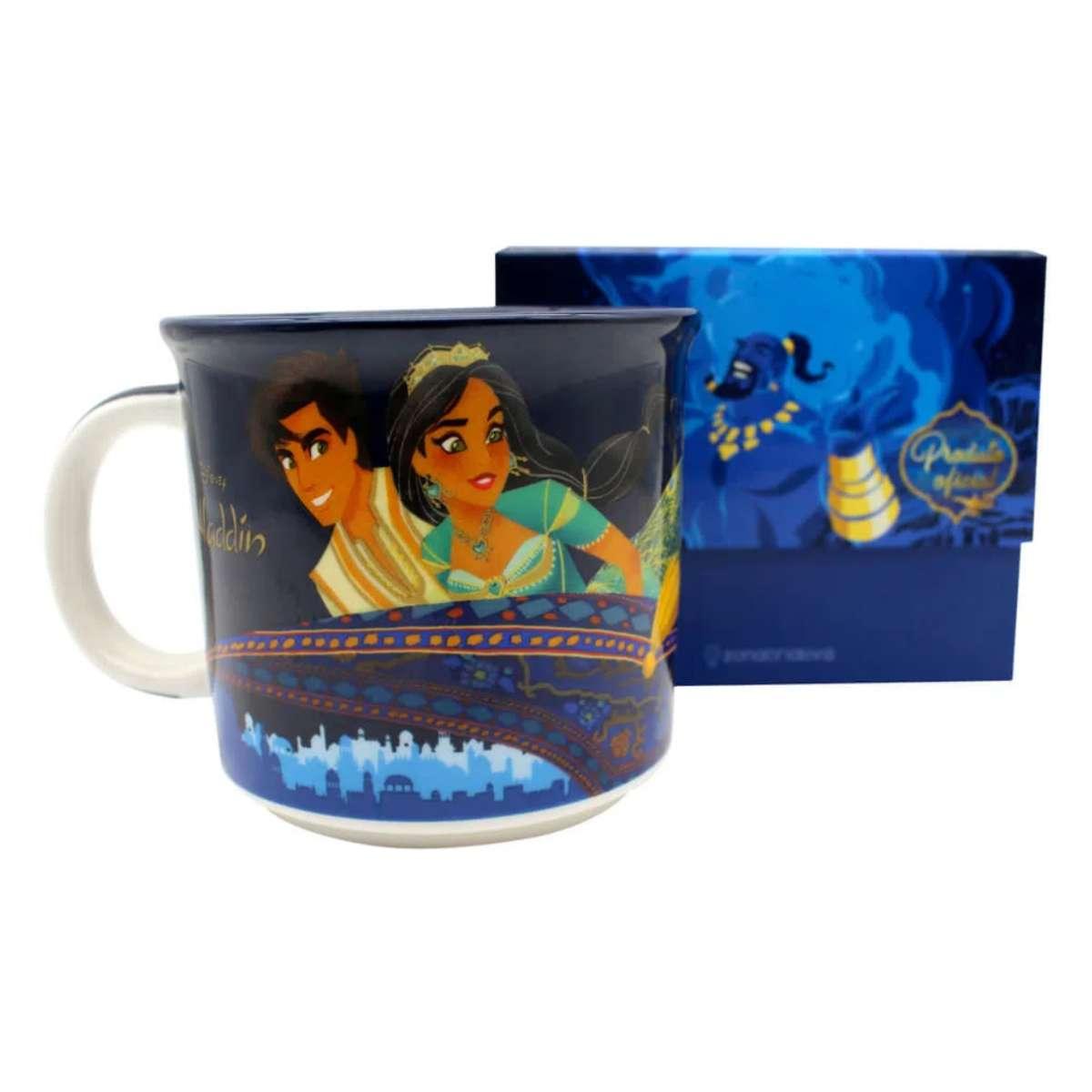 Caneca Aladdin e Jasmine 350 ml