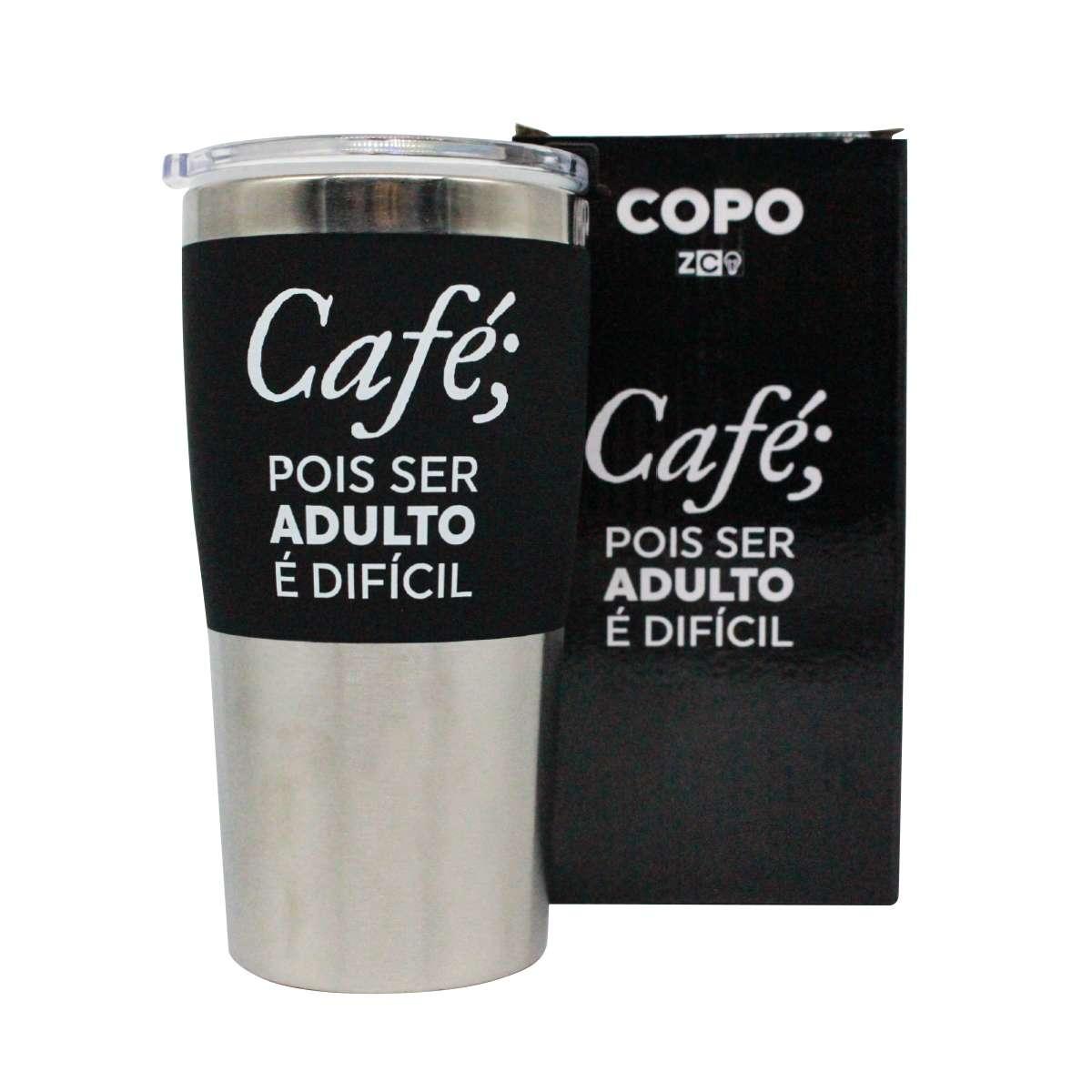 Copo Viagem Café Pois Ser Adulto é Difícil