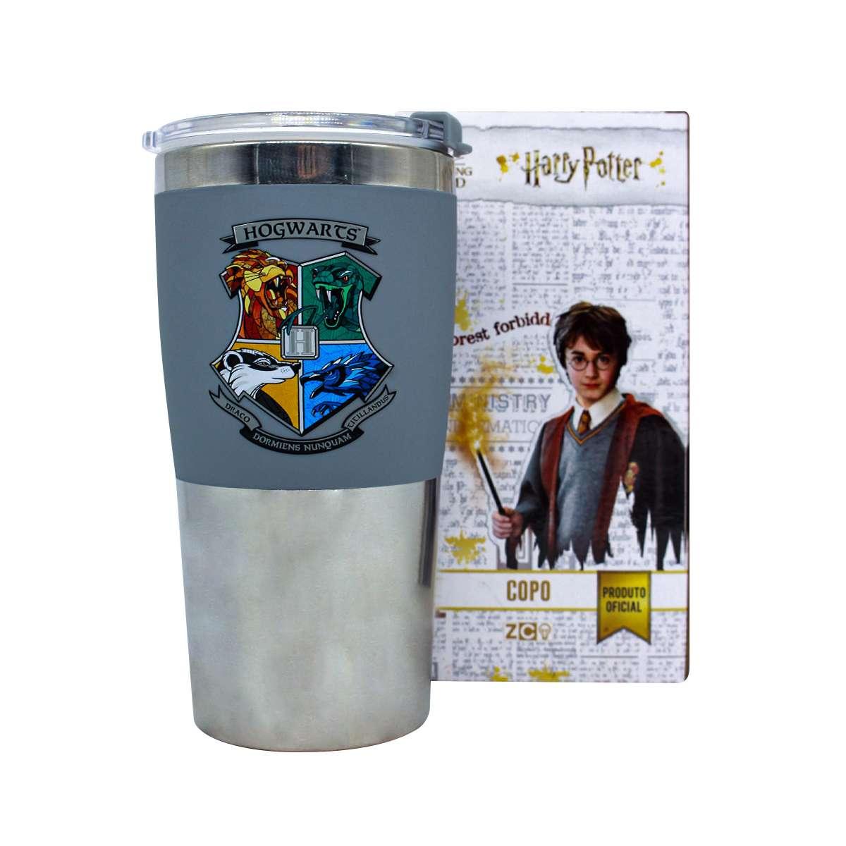 Copo Viagem Hogwarts Casas Harry Potter