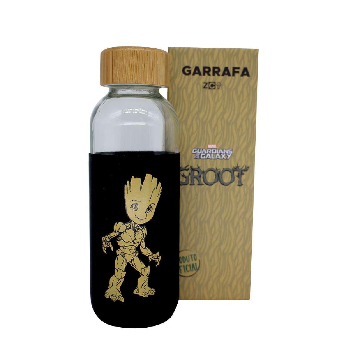 Garrafa de Vidro Groot Guardiões da Galáxia Marvel