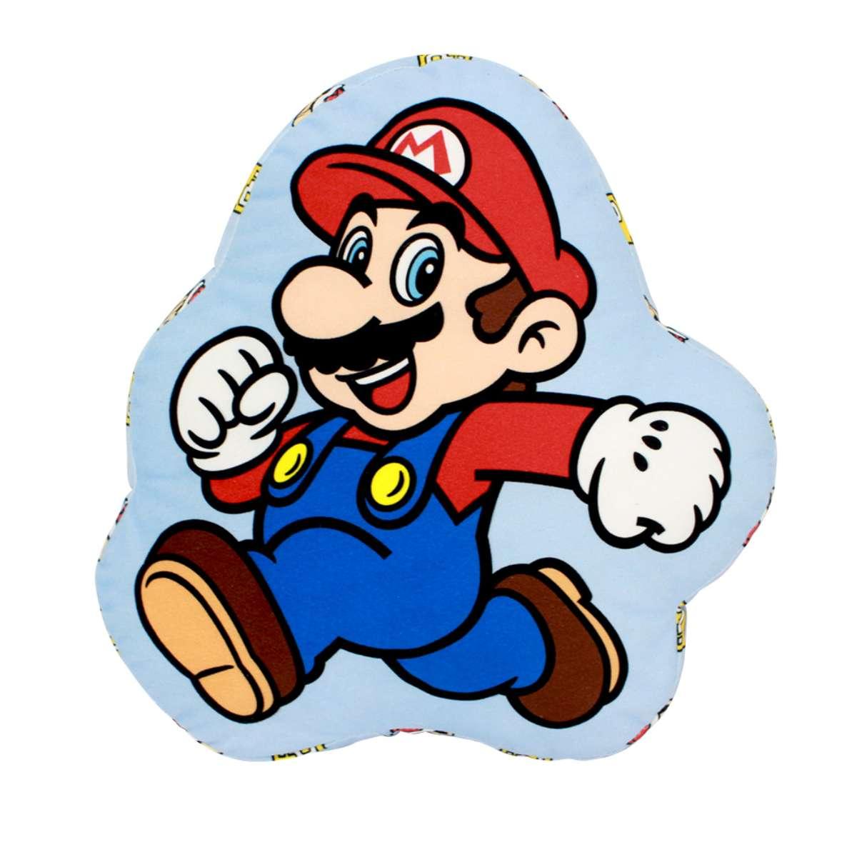 Almofada Decorativa Formato Super Mario Bros Nintendo Correndo