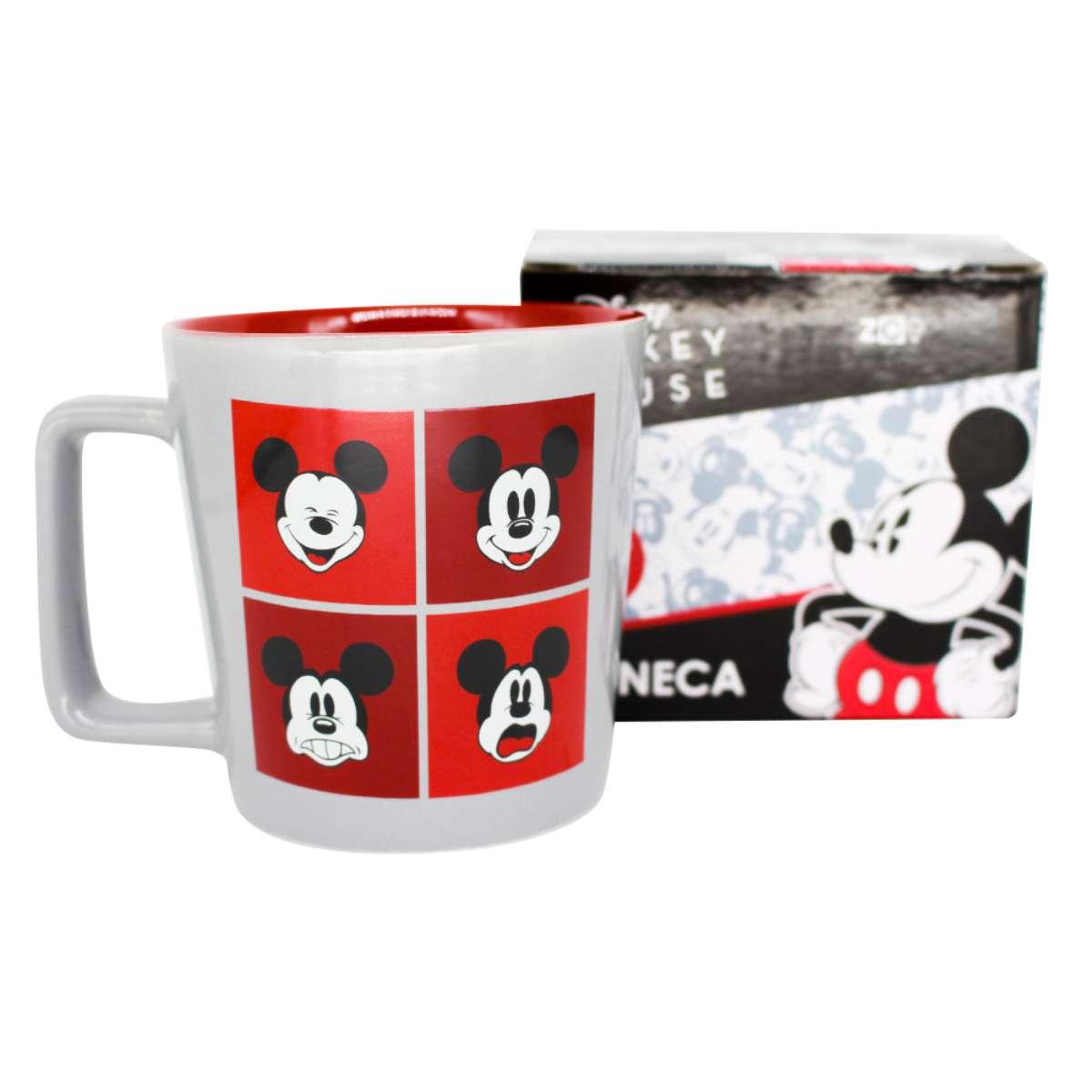 Caneca Mickey Expressões Faciais Humores Disney