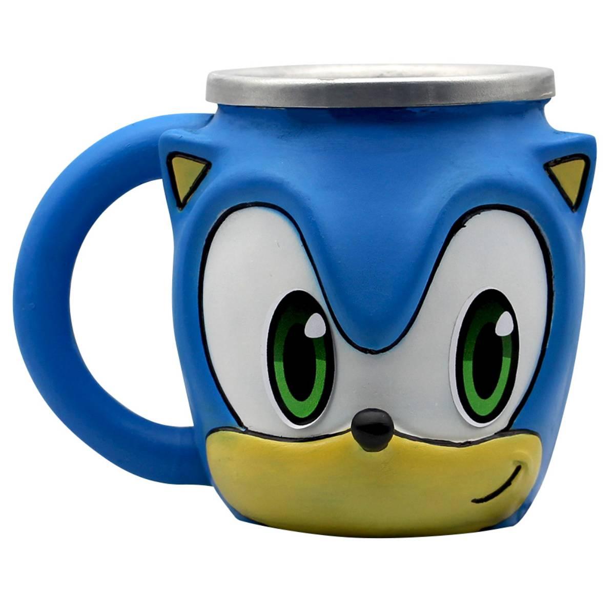 Caneca 3D Sonic Videogame Retrô