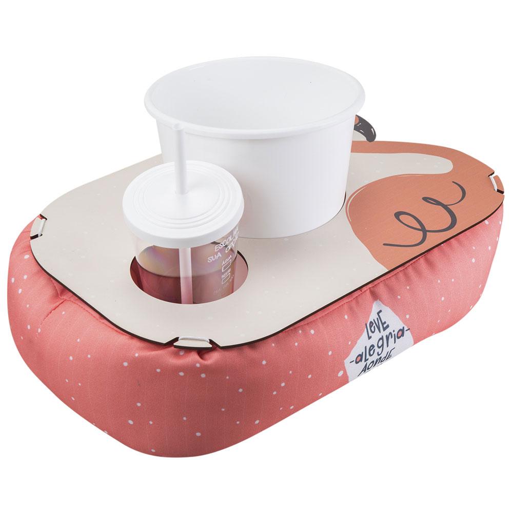 Almofada de Pipoca Shape - Flamingo - Presente Super