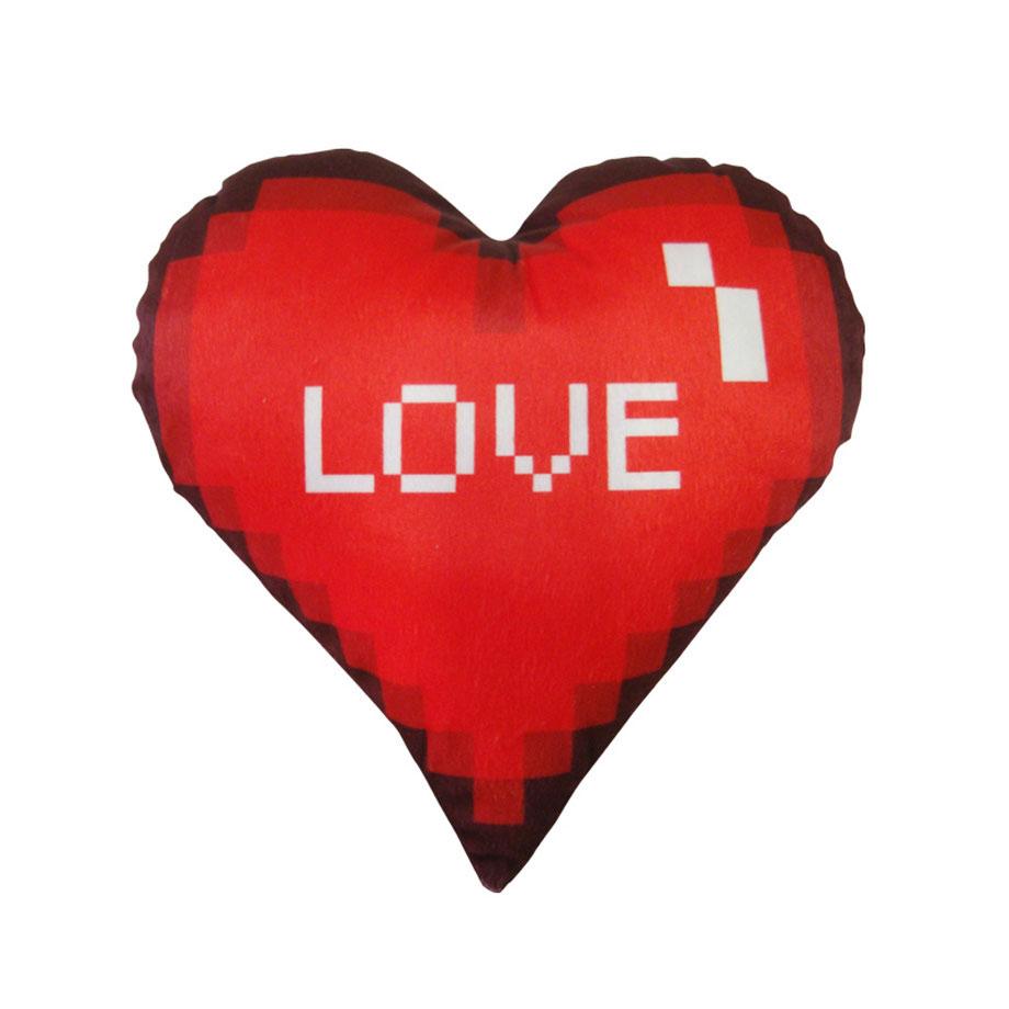 Almofada Formato Coração Pixel 8 Bits Eu amo Você