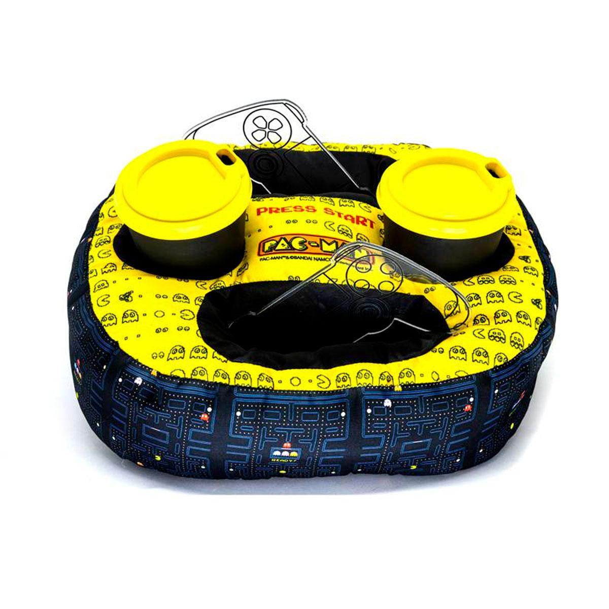 Almofada Porta Controle e Copo Pac Man - Presente Super