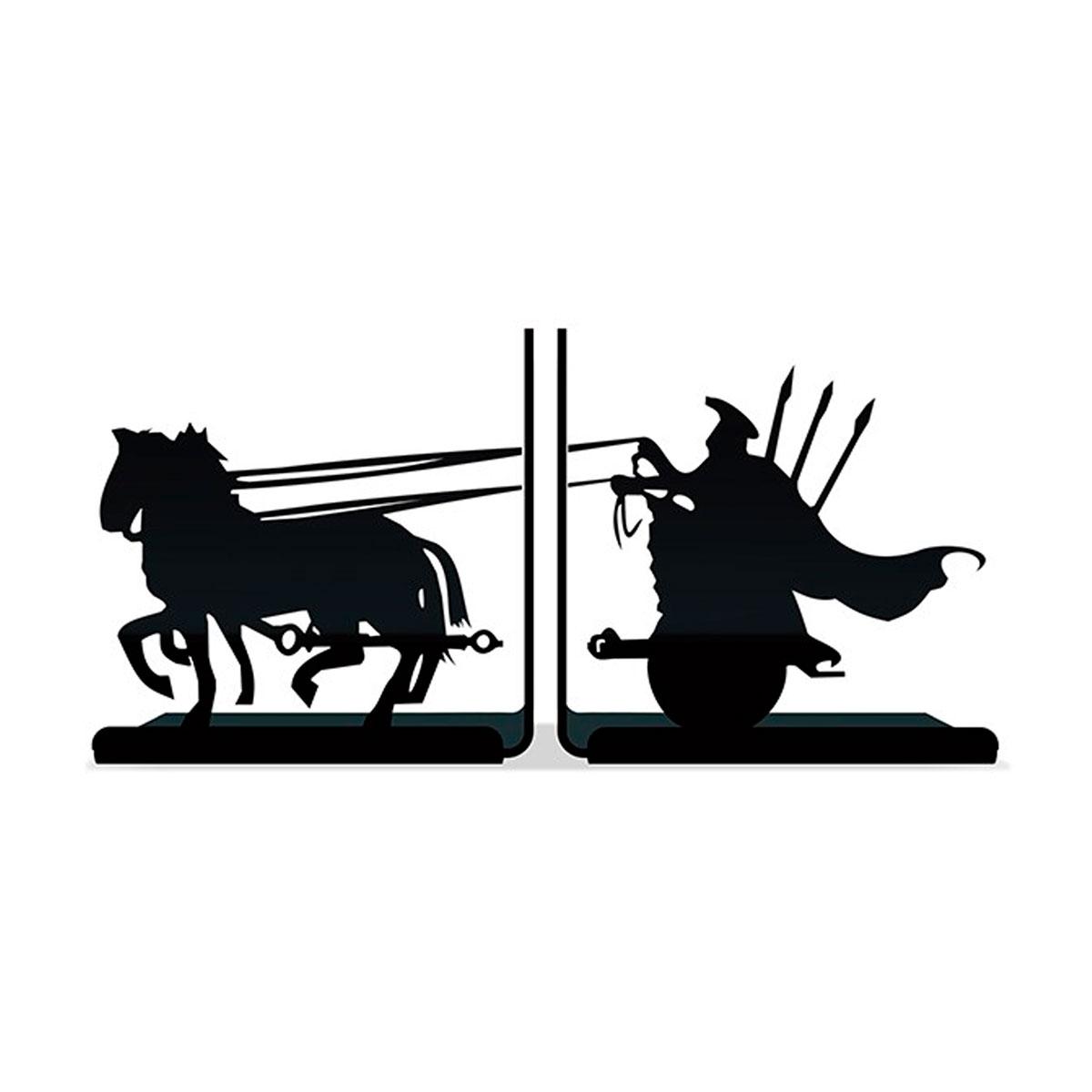 Suporte Aparador De Livros Dvd Cd Cavaleiro Gladiador Rpg - Presente Super