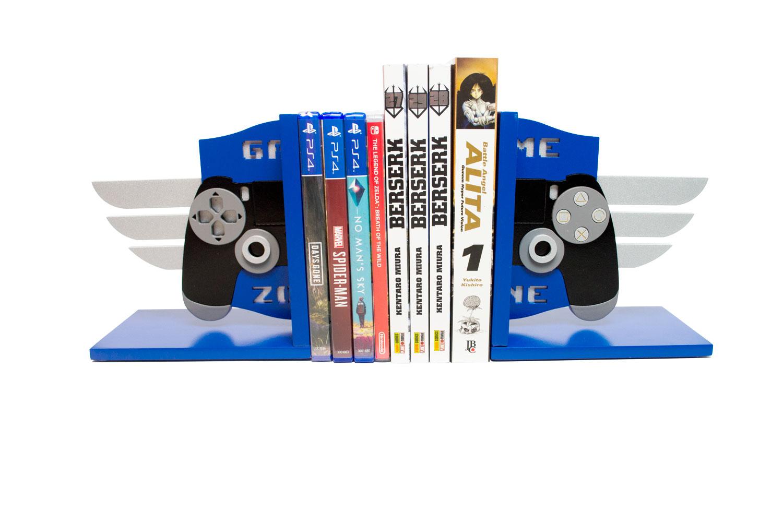 Aparador de Livros e Jogos Controle Playstation PS4 Troféu Platina - Presente Super