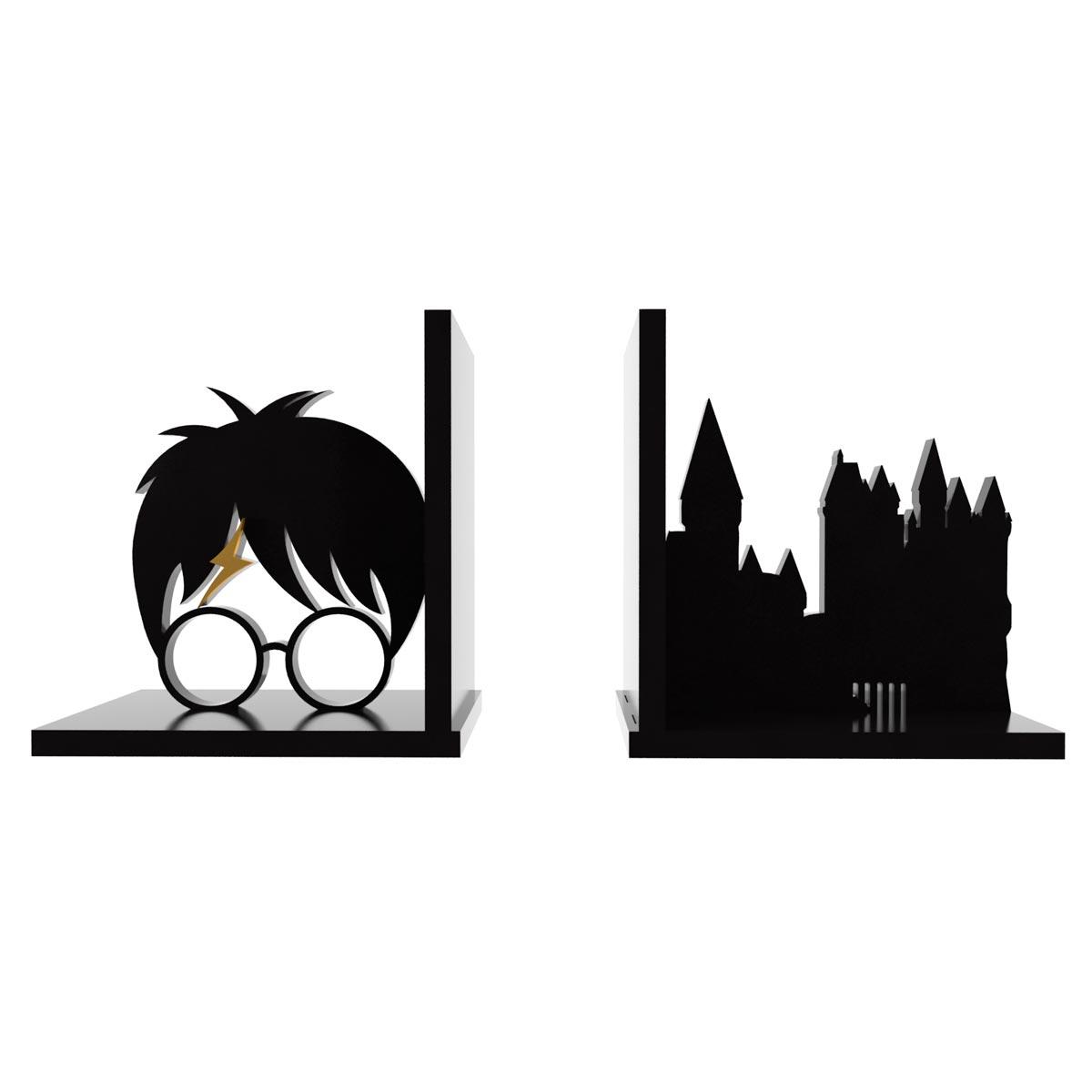 Aparador de Livros Harry Potter Hogwarts - Presente Super
