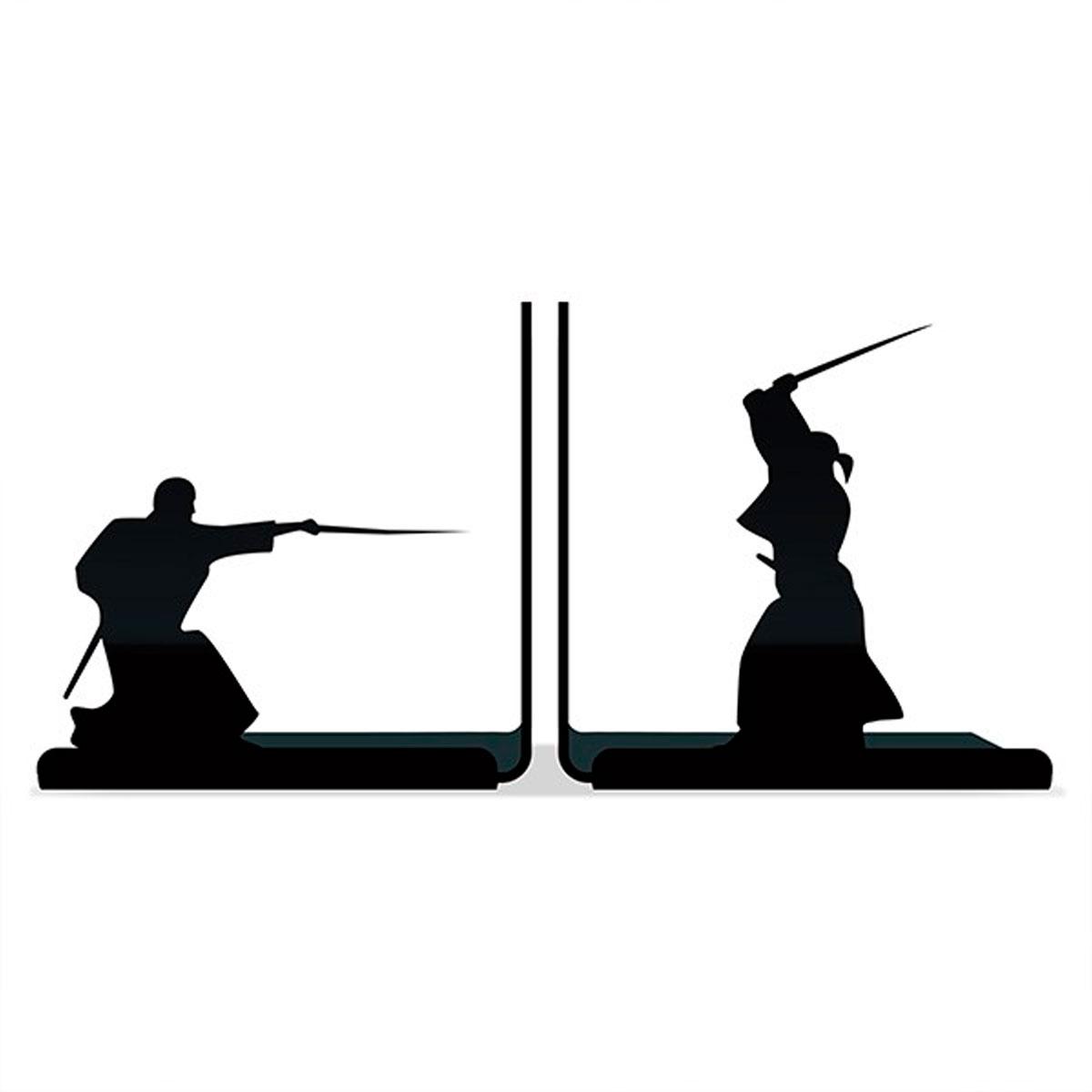Suporte Aparador De Livros Dvd Cd Samurai Espadachim Luta - Presente Super