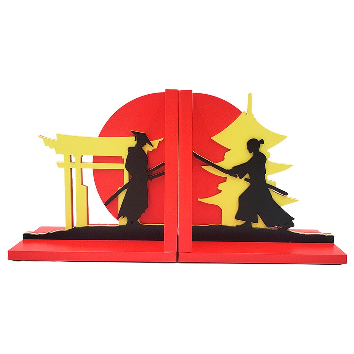 Aparador De Livros Samurai Espadachim Luta Espada Presente Super
