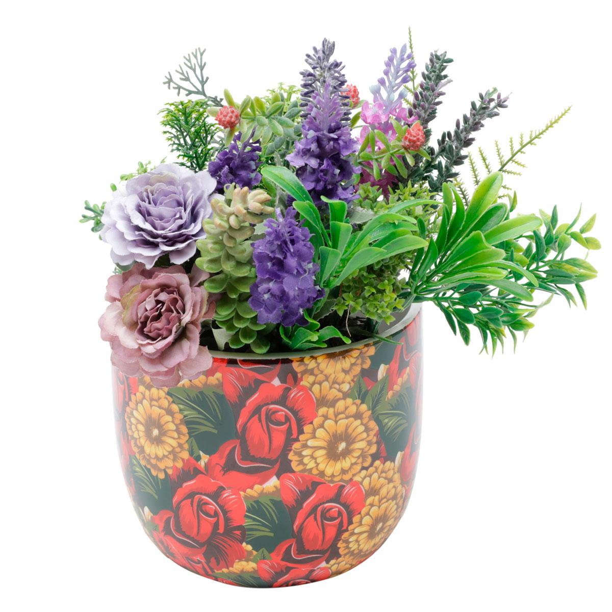 Cachepot Vaso Decorativo de Cerâmica Frida Kahlo Yellow Flower - Presente Super