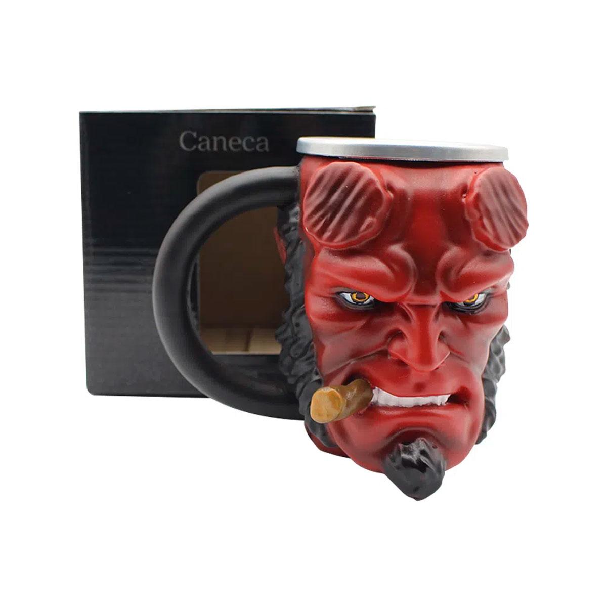 Caneca 3D Hellboy 250 ml - Presente Super