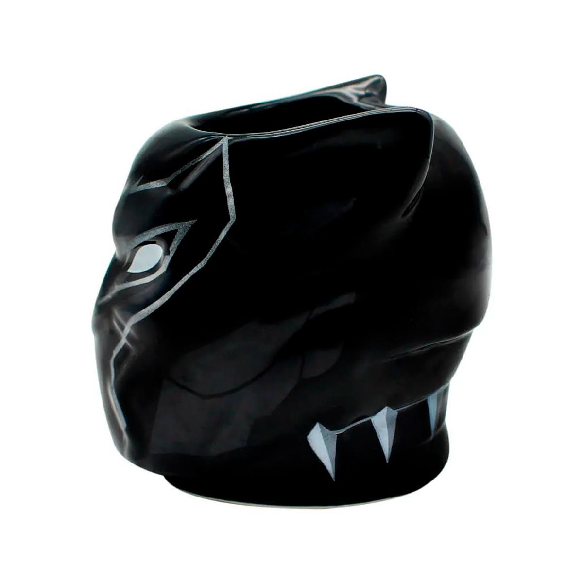 Caneca 3D Pantera Negra Marvel Vingadores 450 ml - Presente Super
