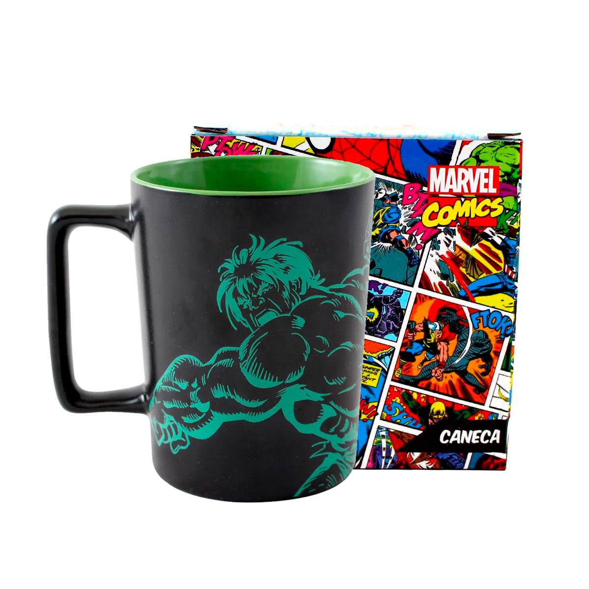 Caneca Alça Quadrada 500 ml Hulk Marvel