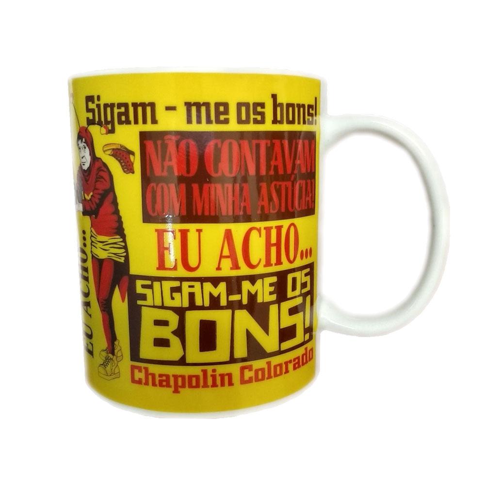 Caneca Porcelana Chapolin Colorado - Frases