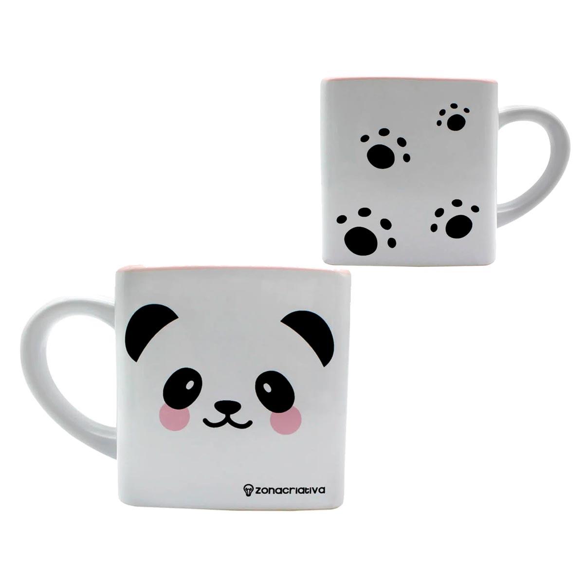 Caneca Quadrada Cubo Panda - Presente Super