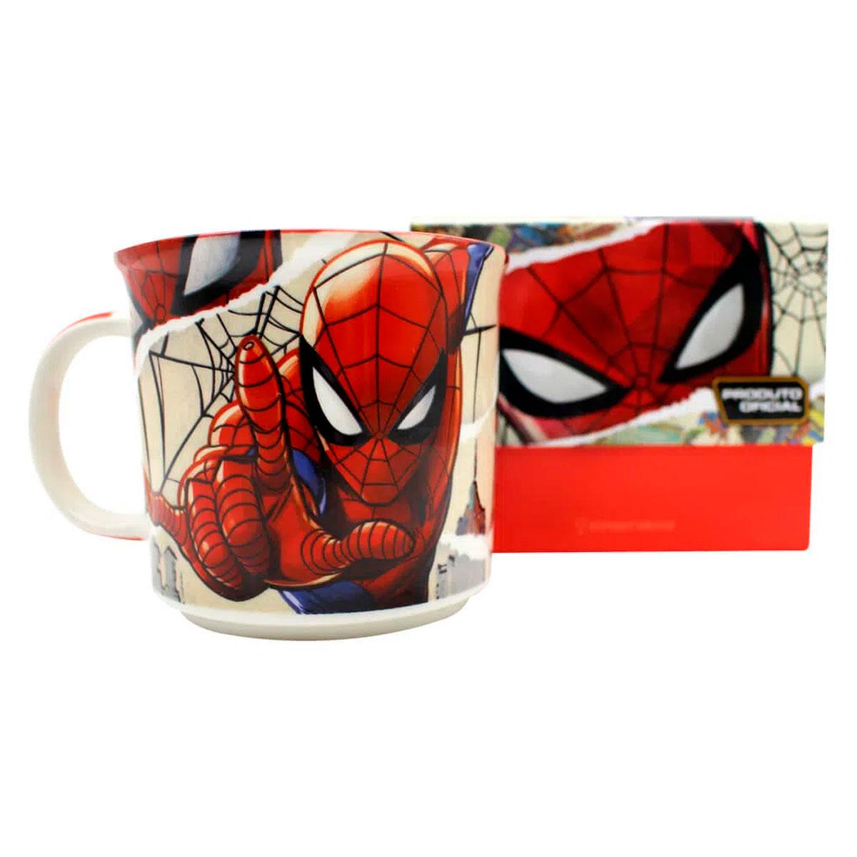 Caneca de Cerâmica Spider Man HQ Páginas 350 ml - Presente Super