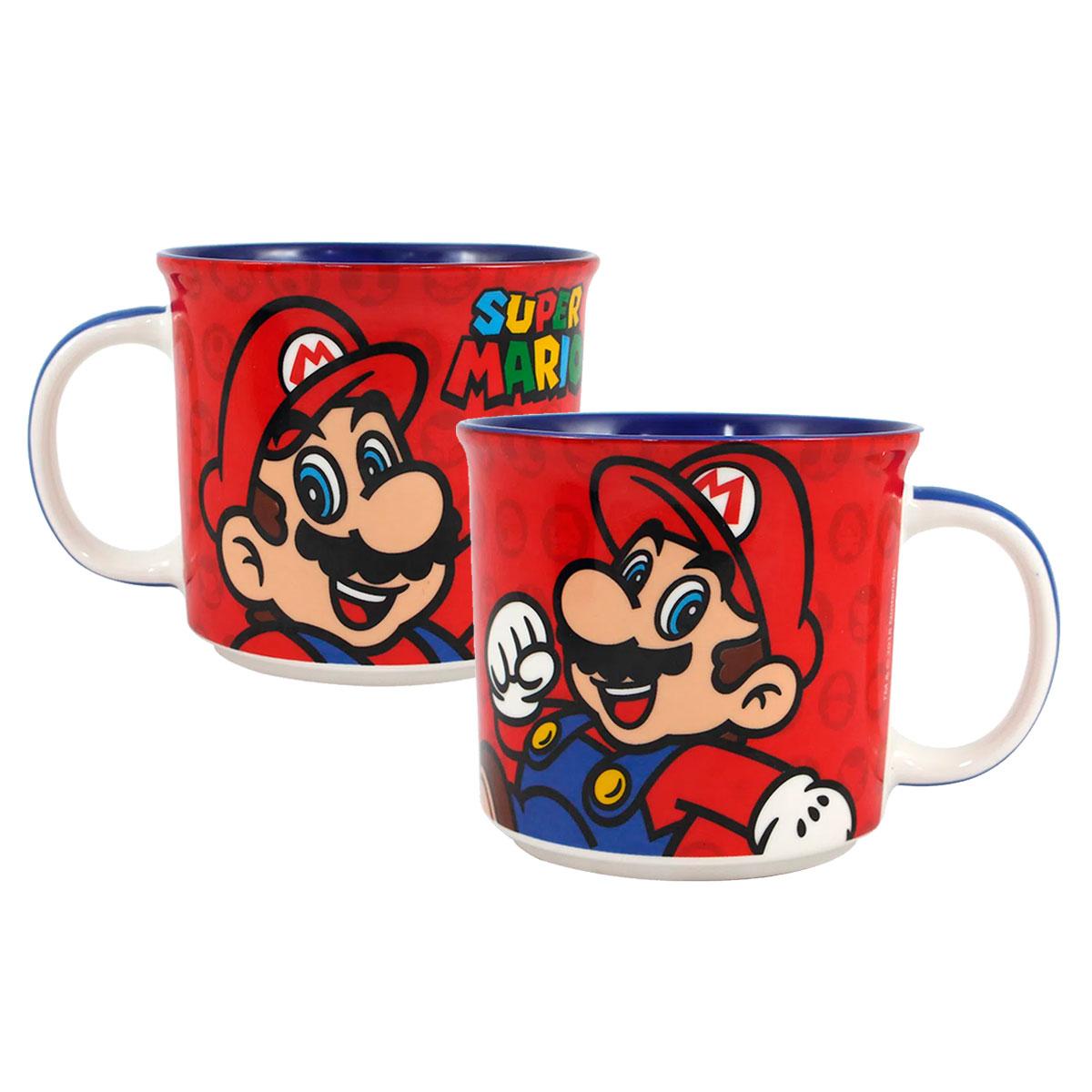Caneca de Cerâmica Super Mario 350 ml - Presente Super