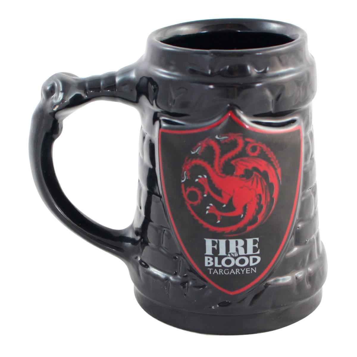 Caneca Game Of Thrones - Escudo Targaryen - Presente Super