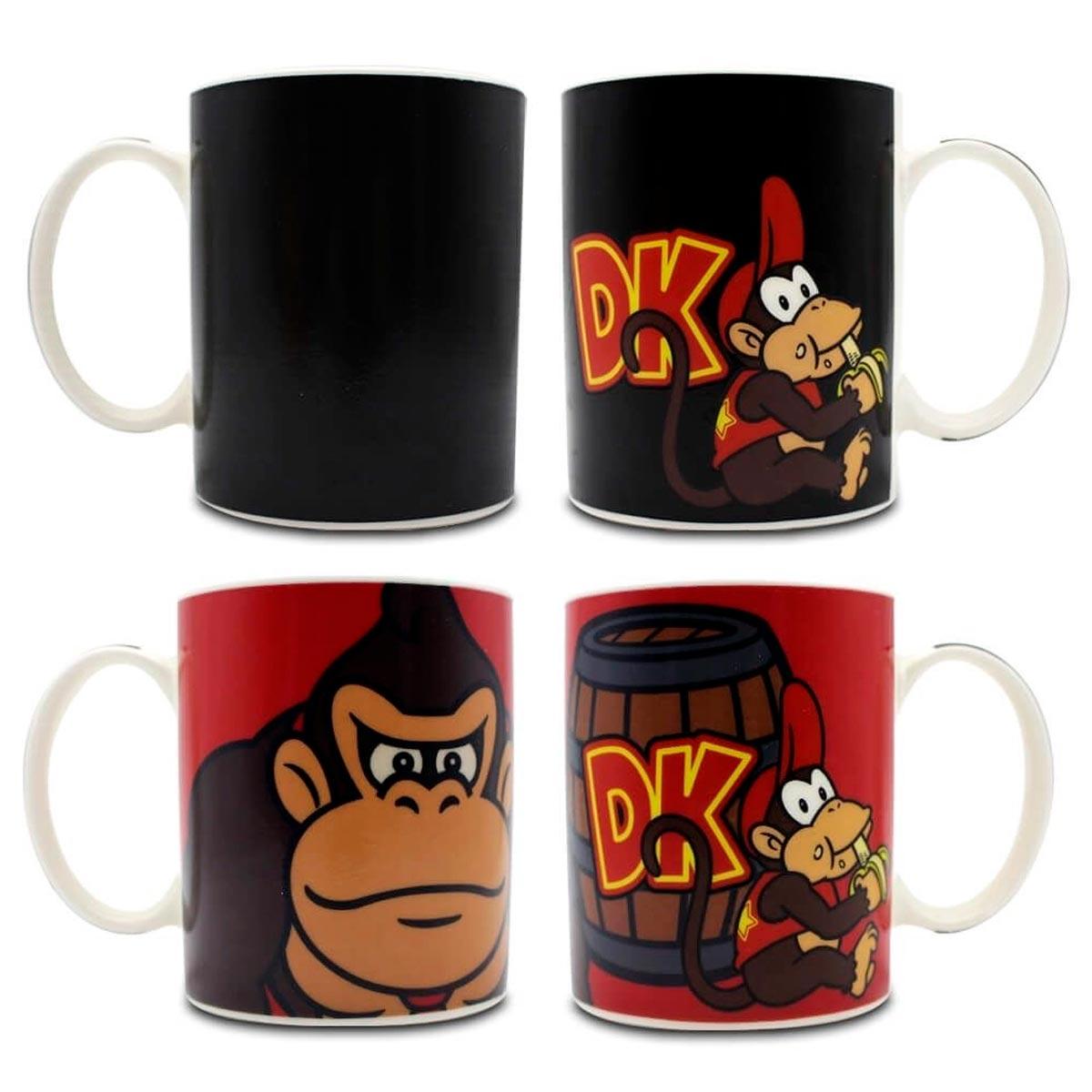 Caneca Mágica Termossensível Donkey Kong - Presente Super