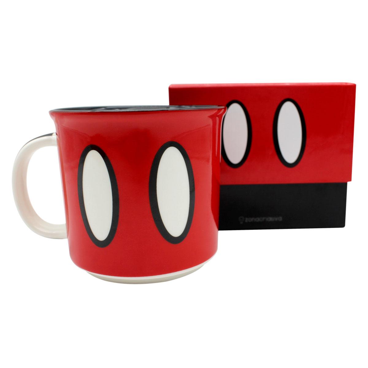 Caneca Mickey Mouse Roupa 350 ml - Presente Super