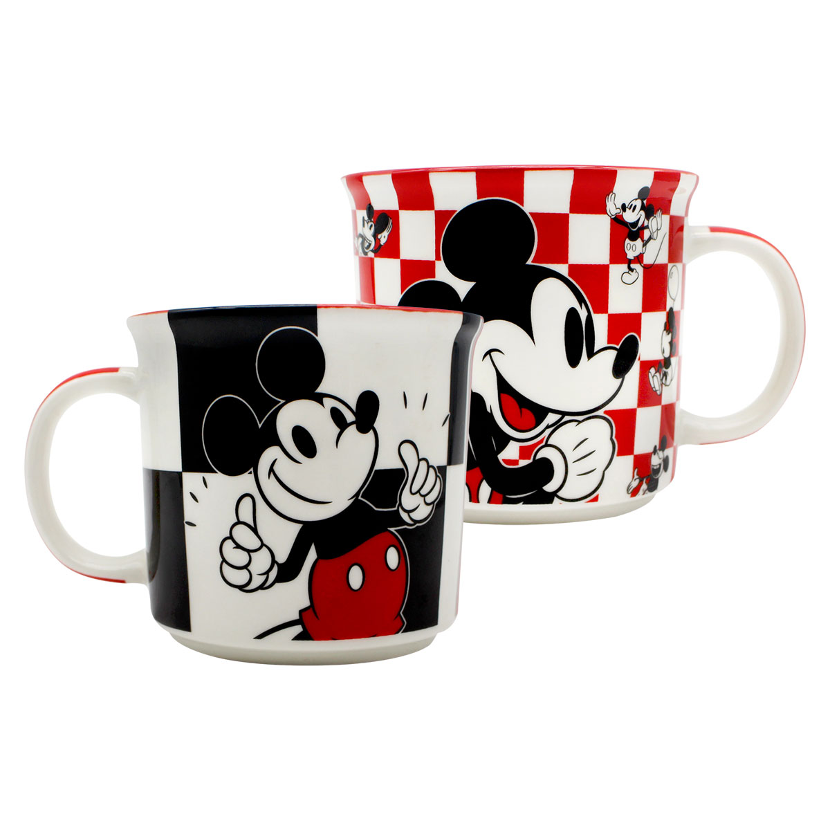 Caneca Mickey Mouse Xadrez 350 ml - Presente Super
