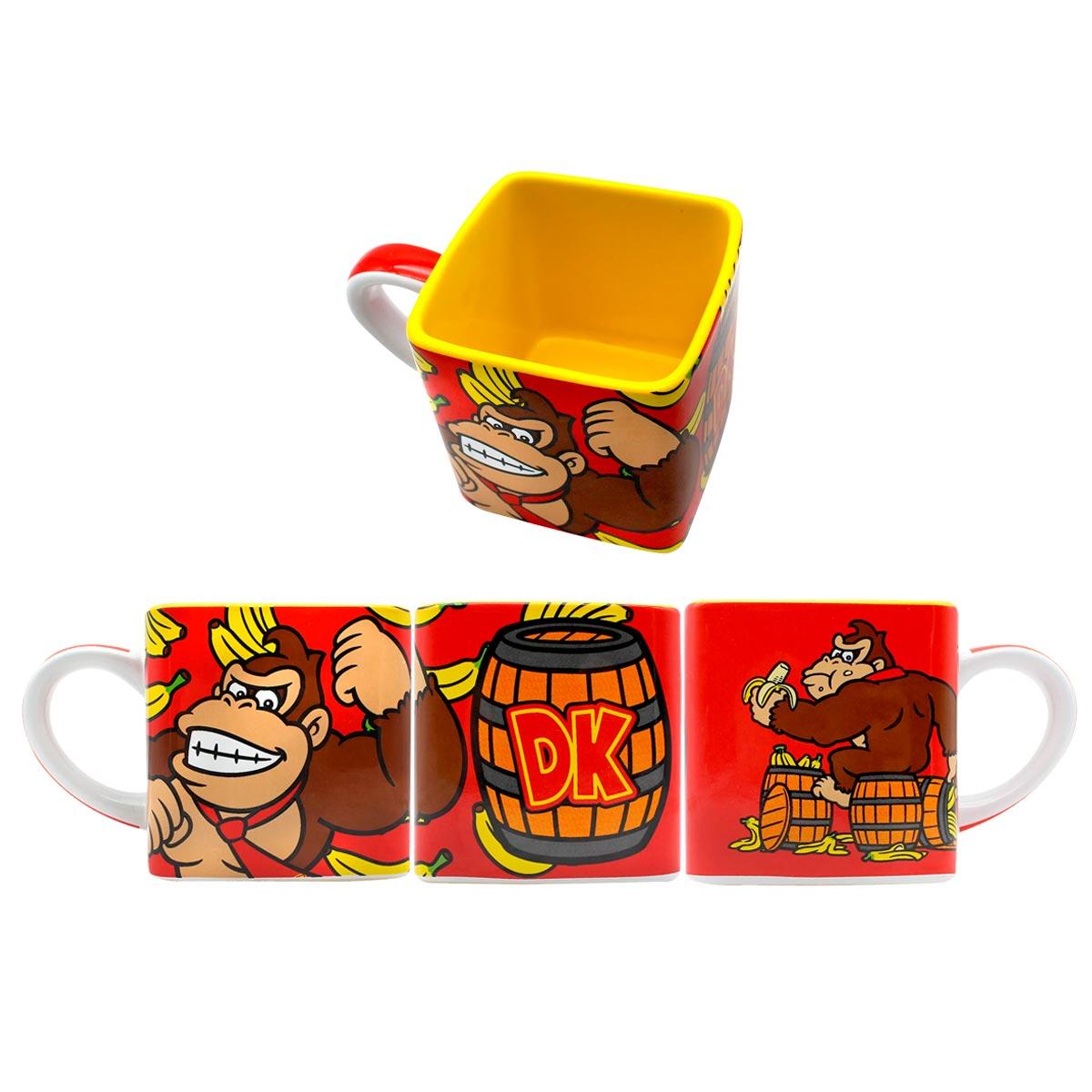 Caneca Quadrada Cubo Donkey Kong - Presente Super