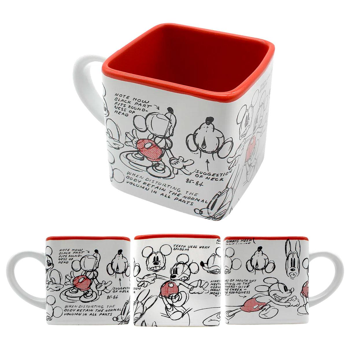 Caneca Quadrada Cubo Mickey Rabisco - Presente Super
