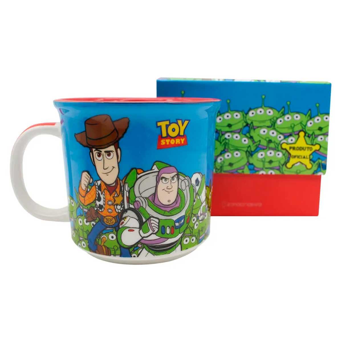 Caneca Toy Story - Woody e Buzz Lightyear - Presente Super