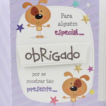 Cartão Ocasiões Especiais - Agradecimento