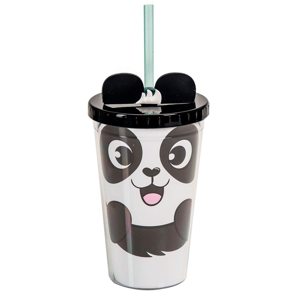 Copo Canudo Shape - Panda