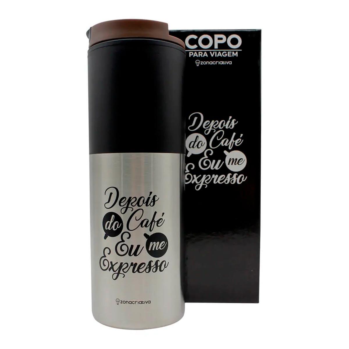 Copo Para Viagem Smart Depois do Café 500 ml - Presente Super