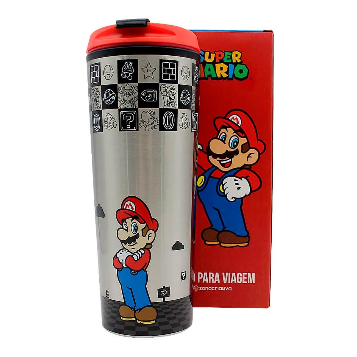 Copo Para Viagem Super Mario Kart 450 ml - Presente Super