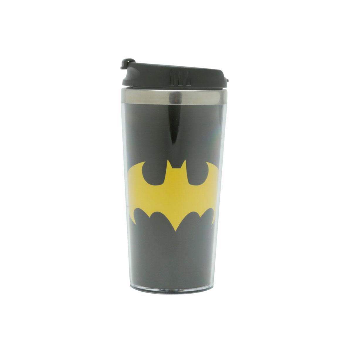 Copo Térmico Batman Logo Amarelo DC Comics