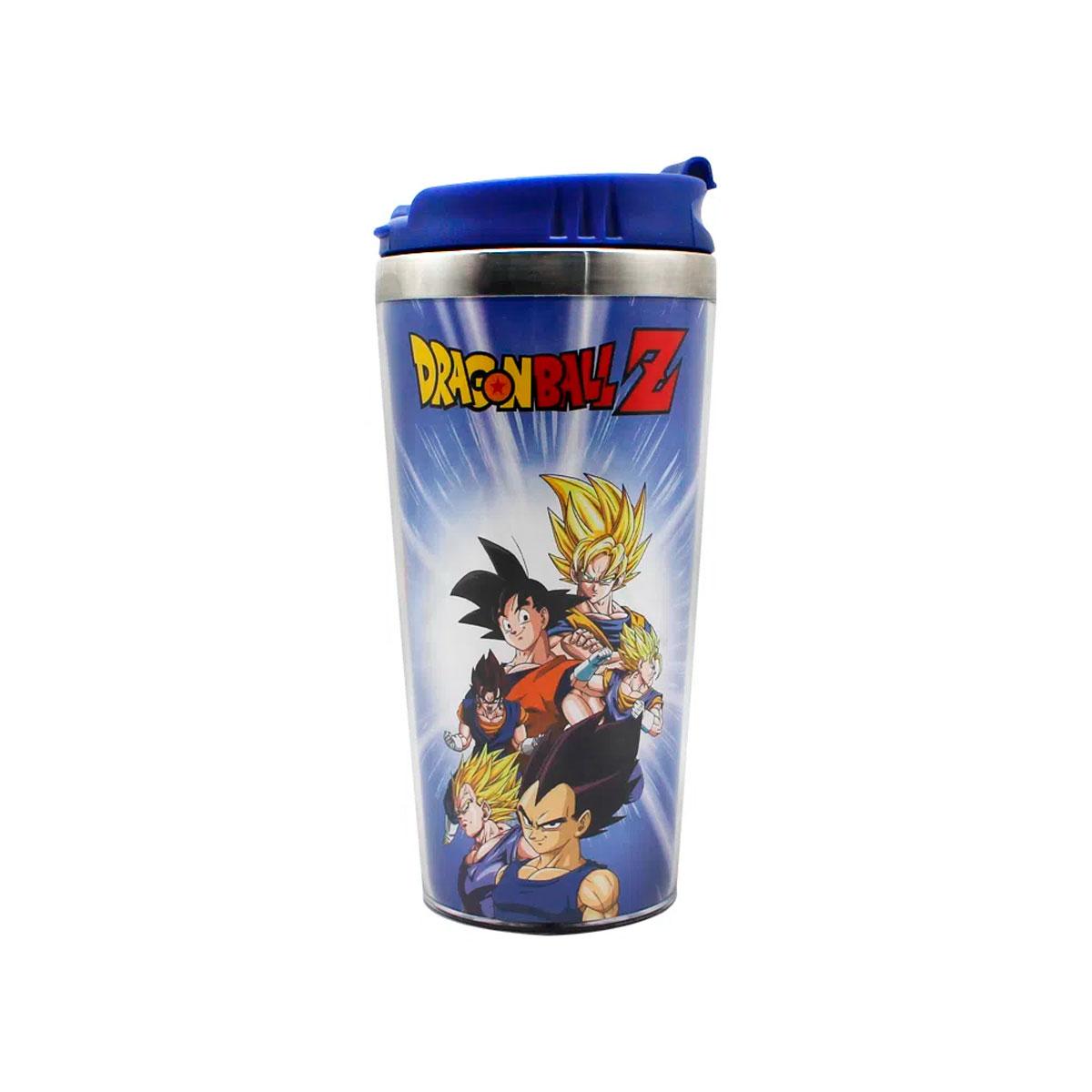 Copo Térmico Dragon Ball Z Goku e Vegeta Saiyajin - Presente Super