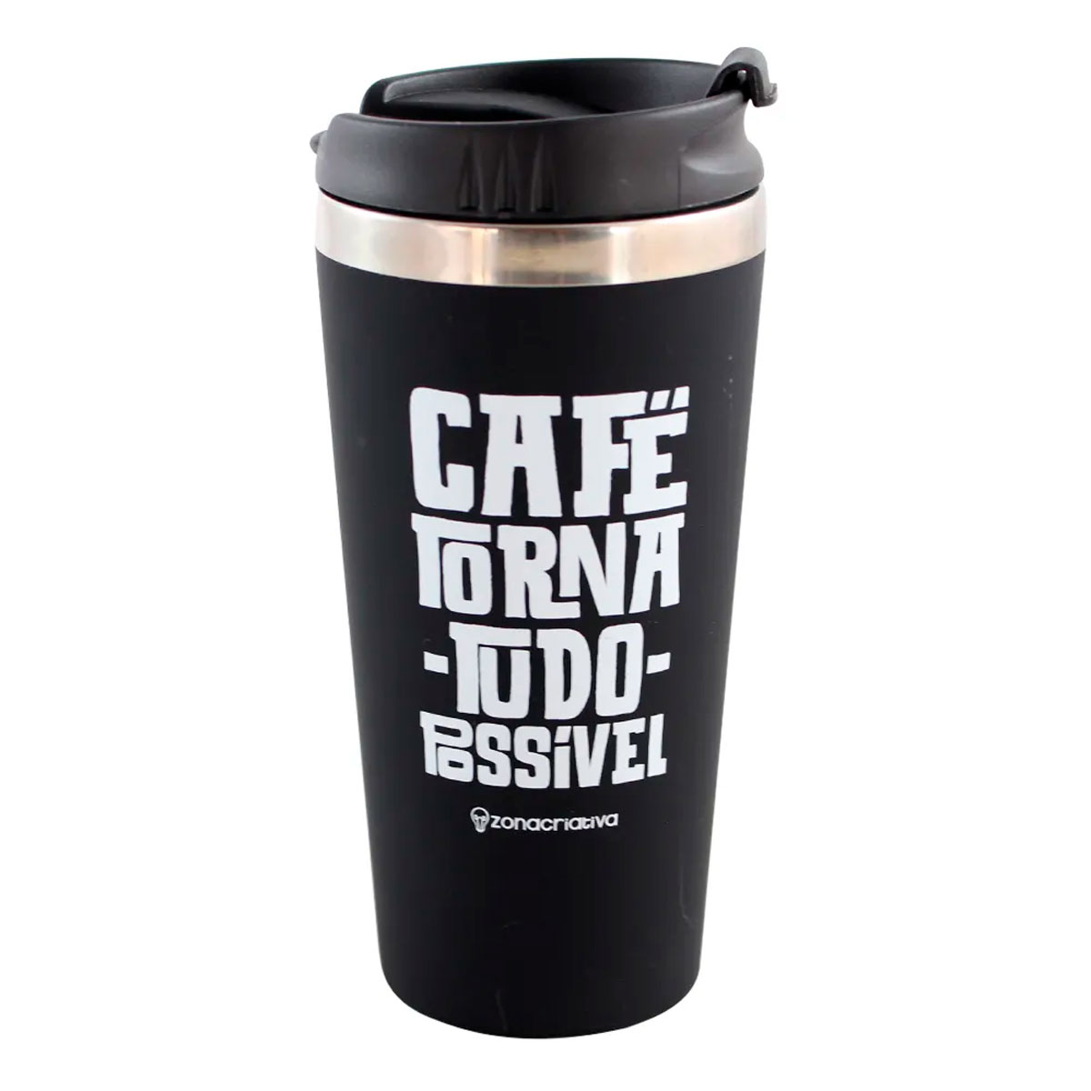 Copo Térmico Emborrachado Café Torna Tudo Possível - Presente Super