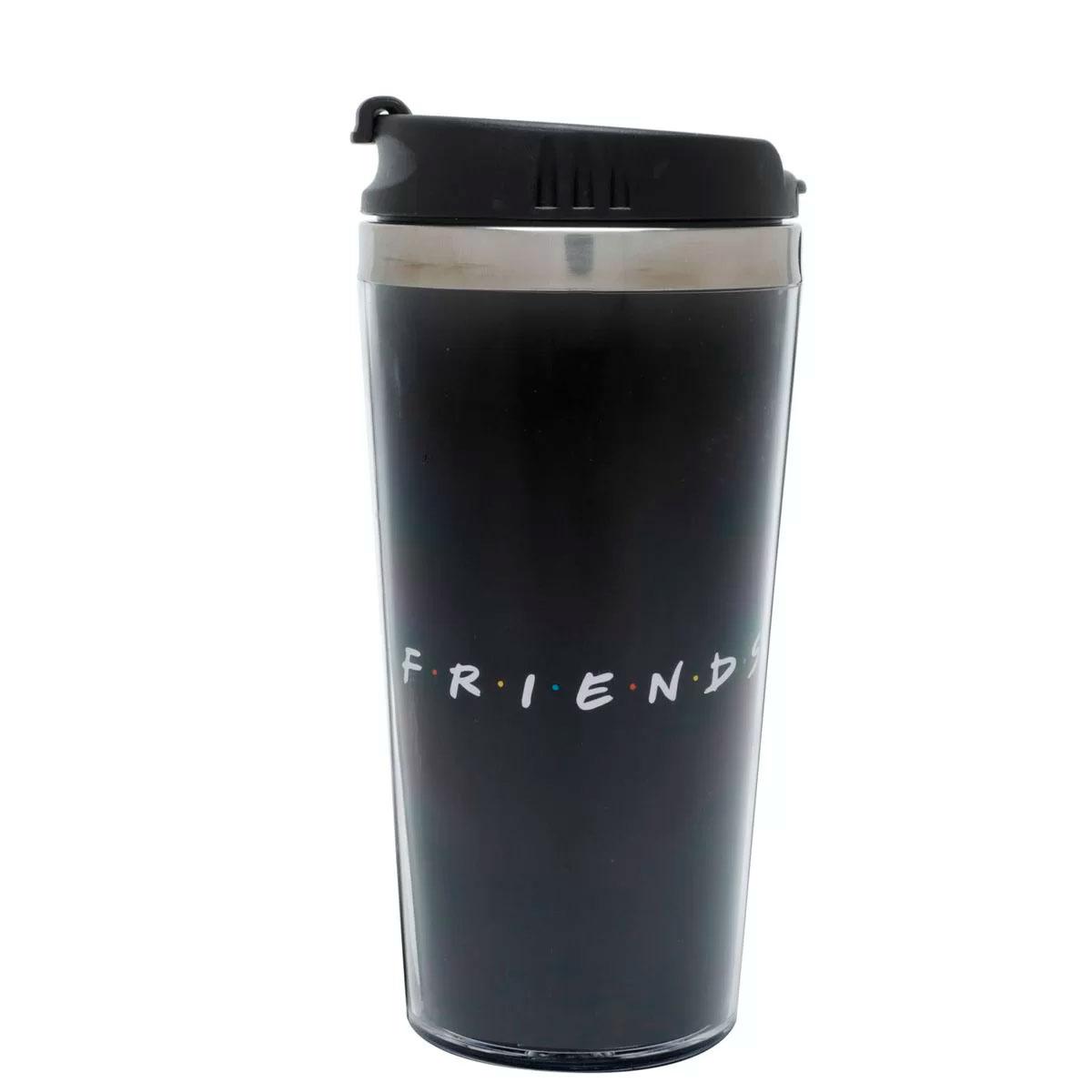 Copo Térmico Friends Logo Preto - Presente Super
