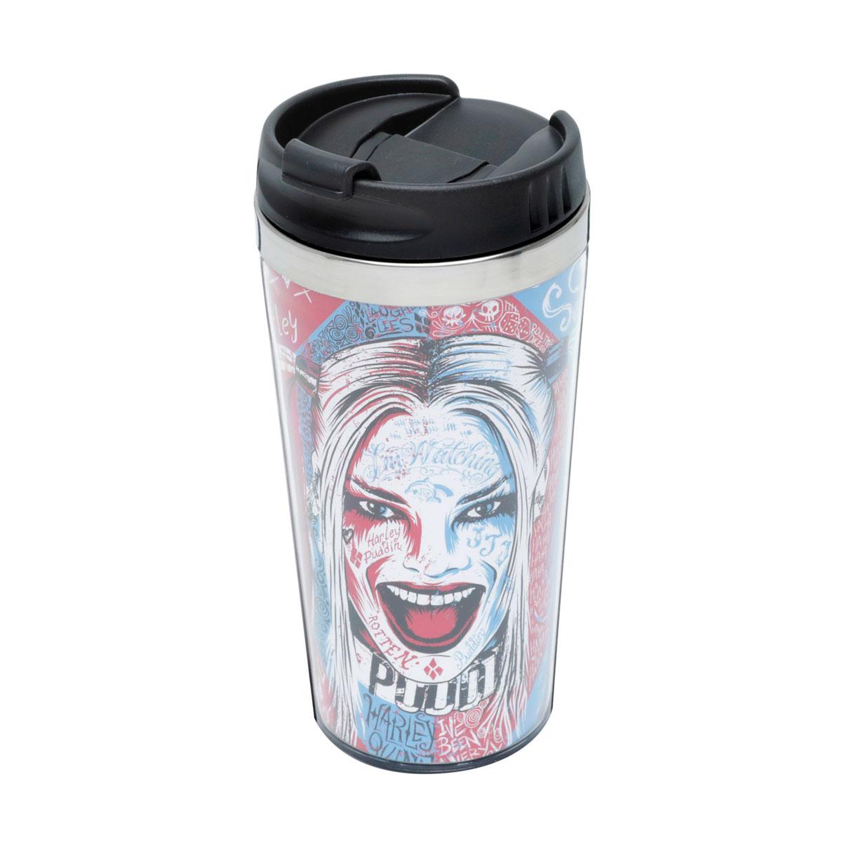 Copo Térmico Arlequina Harley Quinn Graffiti Colorido