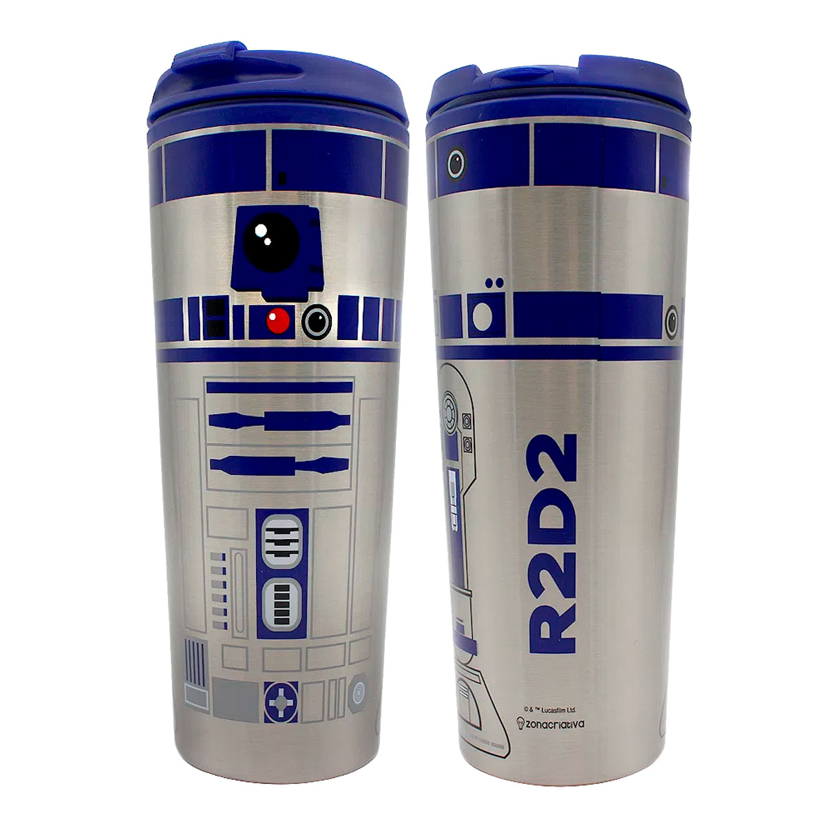 Copo Viagem 450 ml R2D2 Star Wars - Presente Super
