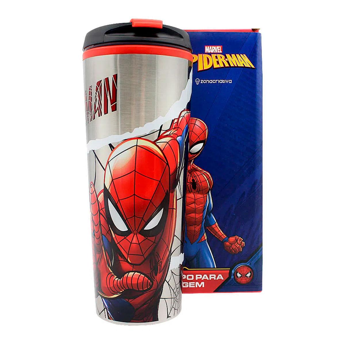 Copo Viagem 450 ml Spider Man HQ - Presente Super
