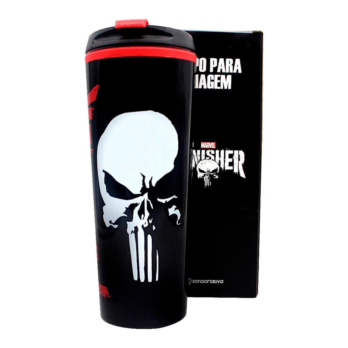 Copo Para Viagem Justiceiro Punisher 450 ml - Presente Super
