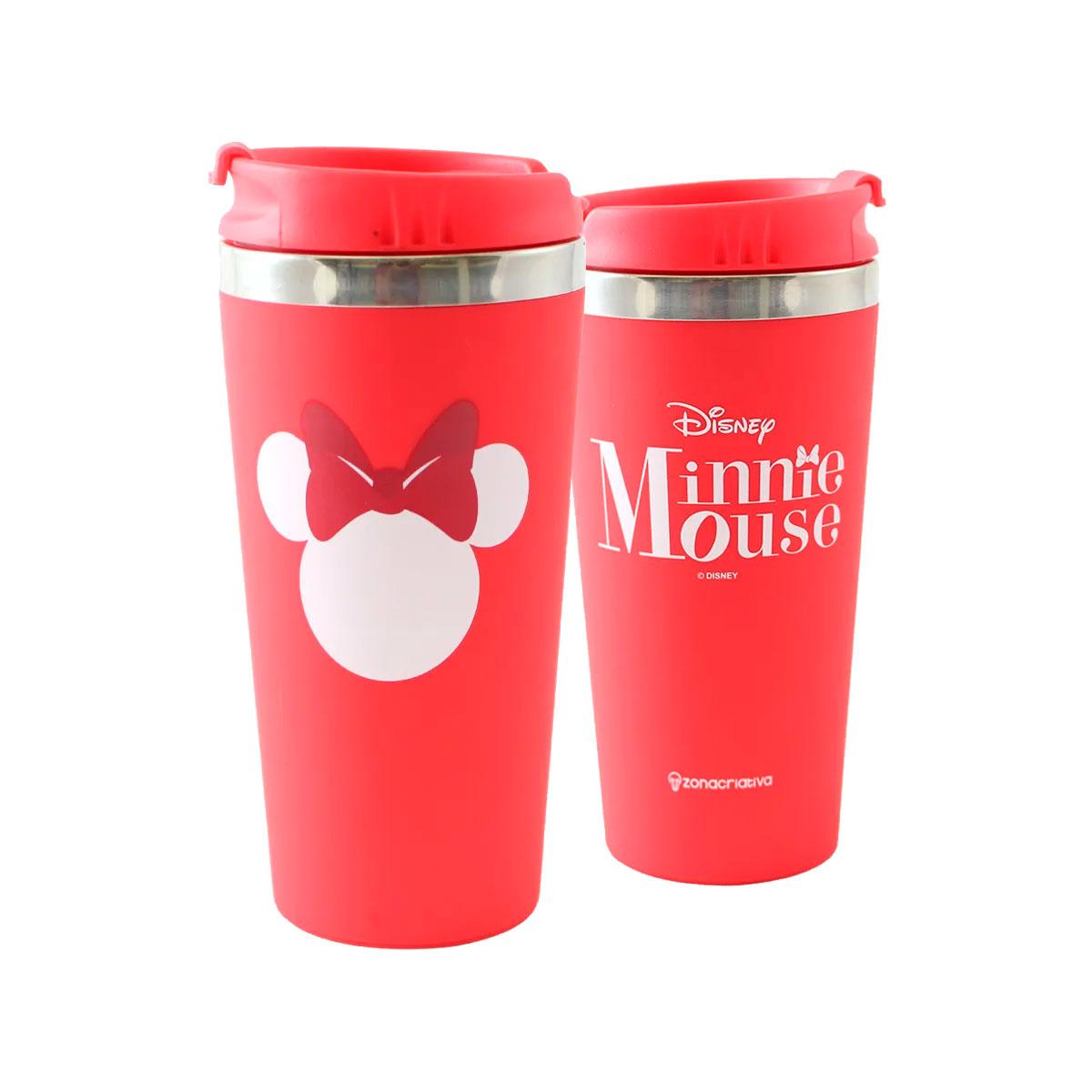 Copo Térmico Emborrachado Minnie Mouse
