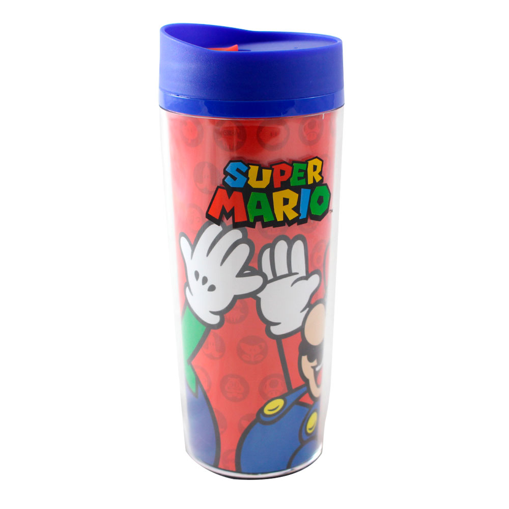 Copo Para Viagem Super Mario Bros - Mario e Luigi